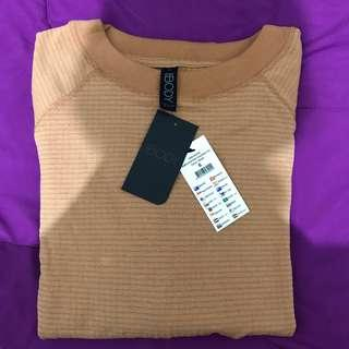 Waffle Crew Neck Long Sleeve Top by Cotton On Body