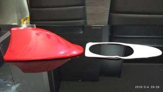 Car sharkfin antenna (red)