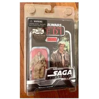 Kenner Hasbro Vintage Saga Collection VOTC Han Solo in Trench Coat MOMC Sealed