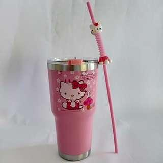 Hello Kitty Tumbler with Straw