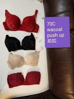 全新 Wacoal 70C push up bra 每個@$50/ 個