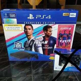 Ps4 Slim 500gb Cuh2106a Jetblack Bundle Fifa 2019