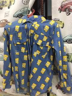 Baju tops Jeans shirt cartoon