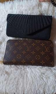 Louis Vuitton Checkbook Wallet and Pouch