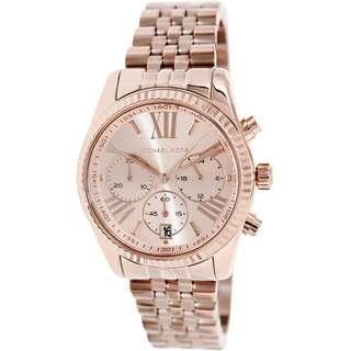b66921404147 NEW Michael Kors MK5569 Women s Lexington Chronograph Rose Dial Ladies Watch
