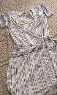 Plus size stretchy wrap dress