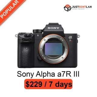 [RENT] Sony Alpha a7R III Mirrorless Digital Camera (Body Only)