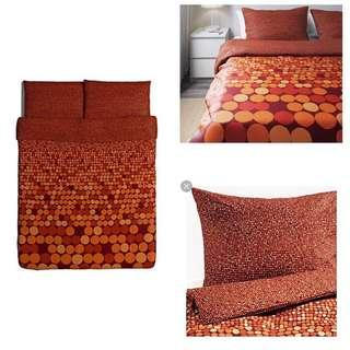 Ikea (King) Smorboll Quilt Cover With 4-Pillowcases (240x220cm)