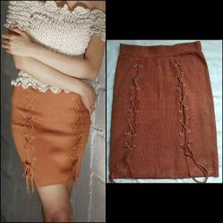 Rok mini rajut skirt import