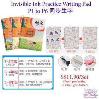 Invisible Ink Chinese Practice Book - P1 to P6