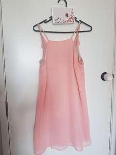Cotton on Pastel Pink shift dress xs a very happy colour :)
