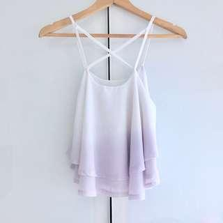 $10 SALE: BN Sassy Dream Dip Dye Chiffon Flutter Top (do you see this marked sold? no. then OBVIOUSLY ITS AVAILABLE)