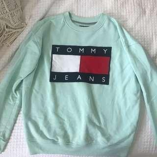 TOMMY JEANS MINT SWEATER