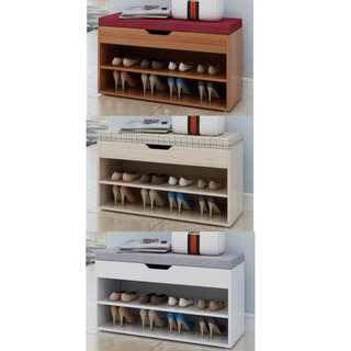 🚚 Cushioned Bench with shoe rack ♥️