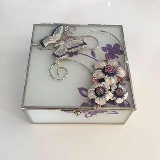 glass dainty jewellery box