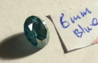天然Blue diamond 顆鑽0.90ct(6x3.2mm)