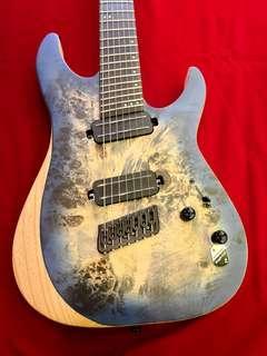 Schecter Guitar Reaper 7 Satin Sky Blue
