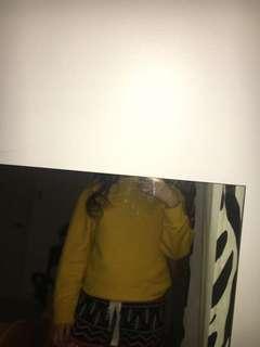 Yellow topshop sweater