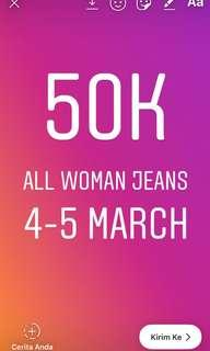 50rb all woman's jeans