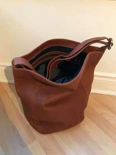 Coach brown leather bag