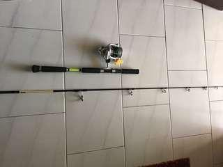 Used 6'ft Butt Joint fishing rod and RUOBI 6500 reel