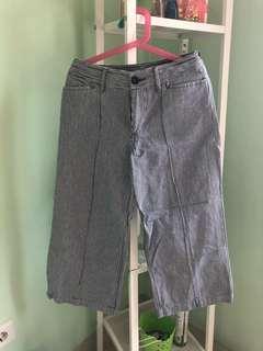 stripe kulot pants