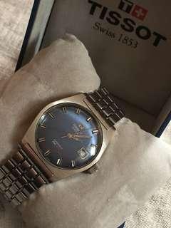 70年代中古Tissot PR516 藍色面自動錶(全原庒)