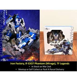 (In Stock) Iron Factory, IF-EX37 Phantom (Mirage), Legends-scaled Transformers