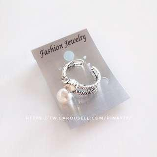 🚚 ▪️珍珠鑲鑽戒指 #半價衣服市集