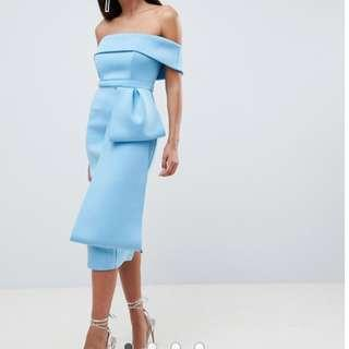 ASOS Scuba Bow Front Midi Dress (WITH TAG)