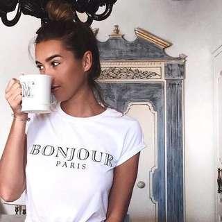 🚚 Bonjour Paris Simple Tshirt