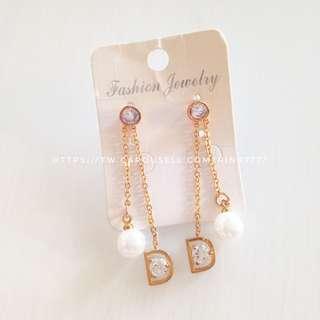 🚚 ▪️珍珠鋯石耳環耳針