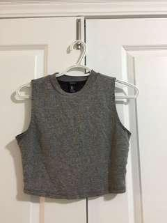 Grey halter top