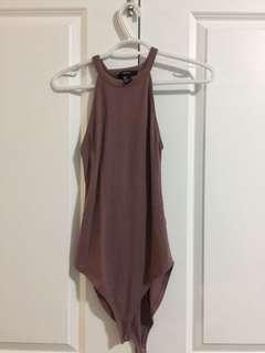 Mauve halter top bodysuit