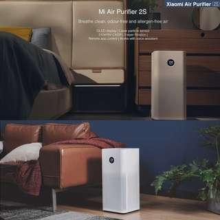 (Brand New/1 Year Warranty)XIAOMI Air Purifier 2S / OLED Screen Display / Control by SmartPhone App Mi Home