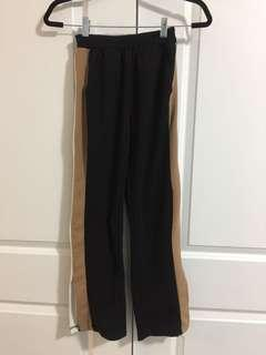 Colour block stretchy slacks with slits on side