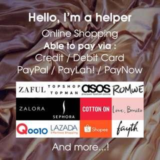 Online Shopping PayPal Paylah! PayNow Helper Service Purchase