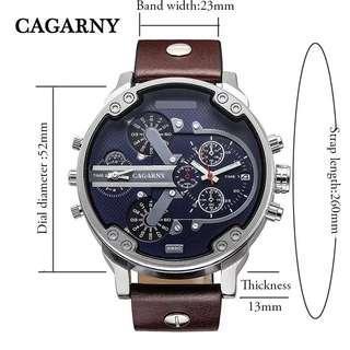 🚚 🆒🆕 Luxury Brand Men Quartz Wrist Watch Dual Movement Sports Watch CAGARNY Man Casual Watches Relogio Male Relojes Clock Men