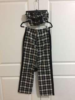 I am Gia plaid top pants set