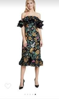CMEO floral cocktail evening midi dress