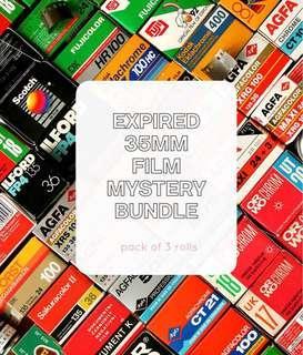 🚚 Expired 35mm Film Mystery Bundle (3 rolls)