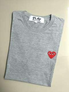 T-Shirt play grey by CDG