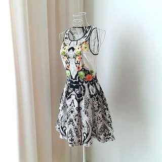 Juicy Couture Geometrical Floral Designer Dress