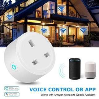 🚚 WiFi Wireless Remote Control Socket Smart Timer Plug Smart Home Power Socket Switch APP Remote Socket Outlet Timing Switch for Smart Home Google Assistant Amazon Alexa--UK plug