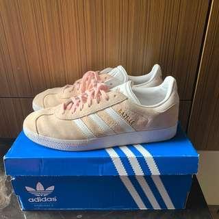 二手 Adidas Gazelle 粉色 麂皮 平底鞋 休閒鞋 24cm 粉紅