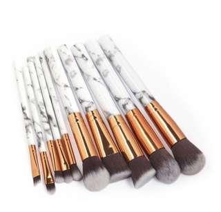 Makeup Brushes in Marble