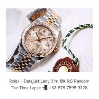 Rolex - Datejust Lady 31m, Diamond Index, Computer Dial Steel & 18K Rose Gold 'Random'