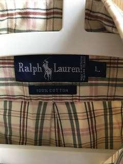 🚚 Ralph Lauren men's Long sleeve shirt L