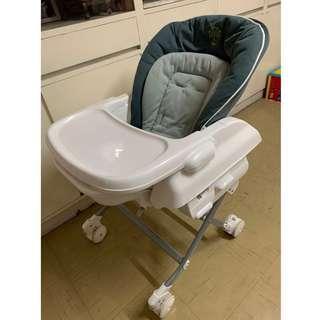 高-低搖餐椅 Baby Star Hi-Lo Swing Highchair