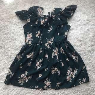 2 ways floral dress